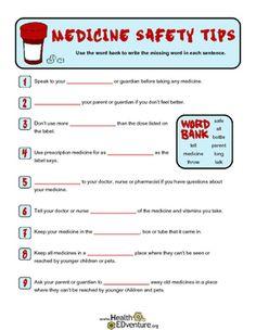 Medicine Safety Word Work