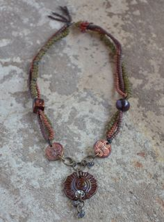raku necklace . . . by marthasrubyacorn on Etsy
