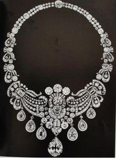 Este segundo también está montado en platino y el diamante central tipo pera tiene un peso de 27 quilates. http://dinastias.forogratis.es/las-joyas-de-los-maharajas-t210-72.html