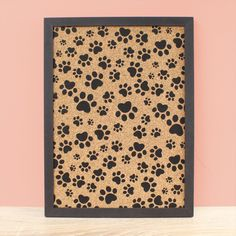 Cork Notice Board, Animal Paw Print, Framed Pinboard, Bulletin Board Gift, Black Graphic Decor, Home Gifts for Her, Desk Organization , Vision Board, girl boy kids room, birthday christmas, Wall Hanging Decor , Dog Lover Gift, Cat Lover Gift Cat Lover Gifts, Cat Lovers, Cat Dog, Storage Places, Desk Organization, Birthday Presents, Bulletin Board, Dog Owners, Home Gifts