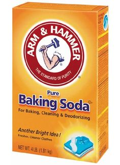 A Dash of Soda In the shower, sprinkle a small amount (quarter-size drop) of Arm