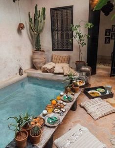 La Maison Marrakech – Tara Milk Tea - Rebel Without Applause Small Backyard Pools, Small Pools, Piscina Interior, Plunge Pool, Pool Designs, My Dream Home, Dream Life, Exterior Design, Future House