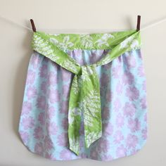 perfect first sewing project for 45 girls - reversible half apron