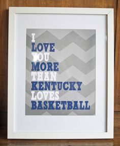 "8""x10"" Printable Art - I Love You More Than Basketball - PDF. $5.50, via Etsy."
