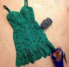 Sexy V-neck lace dress #WE30901PO