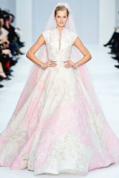 Gown from Elie Saab Spring 2012 Bridal Collection. Photo by Imaxtree. Via www.nymag.com