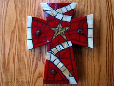 Mosaic Tile Crosses   Mosaic Cross by floweringmoon