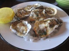 Leon's Oyster Shop in Charleston, S.C. serves char-grilled oysters on the half-shell