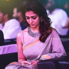 Mind blowing Blouse Designs for Wedding Silk Sarees Nayanthara Hairstyle, Stylish Sarees, Elegant Saree, Sexy Blouse, Beauty Full Girl, Beautiful Indian Actress, Beautiful Actresses, Saree Blouse Designs, Blouse Patterns