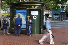 """""""One of San Francisco's toilets, which, officials say, always need maintenance adjustments."""""""