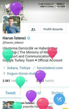 Doğum günümü kutlayan @twitter 'a teşekkürler.