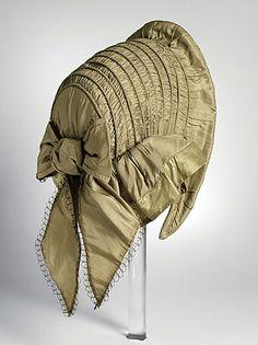LACMA Collections Online; American; woman's capote bonnet, c. 1857; 5 x 7 inches; silk taffeta
