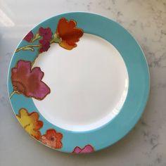 "3 #Lenox Floral Fusion Aqua 11"" Dinner Plates Stephanie Ryan #Lenox #stepahieryan #dinnerware #floralfusion"