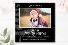 5x5 Christmas Mini Session Template by By Stephanie Design on @creativemarket