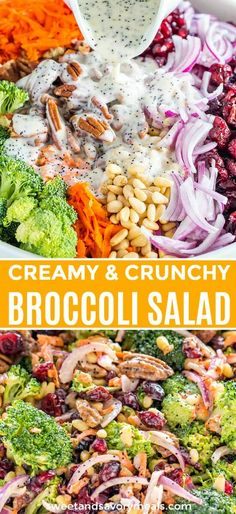 Broccoli Salad with creamy Lemon Poppy Seed dressing, is a cold side dish with loads of flavor, texture, and crunch. Soup Appetizers Soup Appetizers dinners carb Soup Appetizers Appetizers with french onion Salad Recipes Video, Healthy Salad Recipes, Lunch Recipes, Dinner Recipes, Easter Recipes, Sweet Recipes, Ensalada Thai, Lemon Poppy Seed Dressing, Crunchy Broccoli Salad