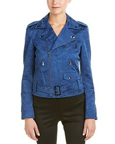 Anne Klein Womens Camo Moto Jacket Raven Blue 12 ** Continue to the product at the image link.(This is an Amazon affiliate link and I receive a commission for the sales)