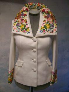 1947-1964 LILLI ANN knit VINTAGE beauty GUIPURE lace WOOL deluxe JACKET