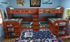 Pick Six Twin Stairway Bunk Beds for Six