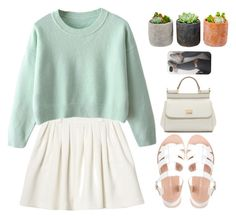 """""""3. Suzi"""" by itsmekayler ❤ liked on Polyvore featuring Monki, Shop Succulents and Dolce&Gabbana"""
