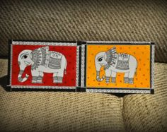 Handmade Madhubani Bird Cards Indian folk by ExoticMadhubaniArts Art Painting, Fish Art, Indian Artwork, Rock Painting Patterns, Tribal Art, Madhubani Art, Fabric Painting, Indian Folk Art, Madhubani Painting