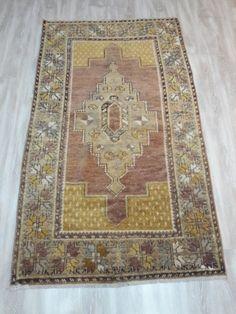 Tan Rust Black Imported Turkish Woven Miniature Carpet