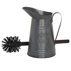 WC-Bürste in Metallkanne - ideal für Deko Zwecke: Amazon.de: Küche & Haushalt