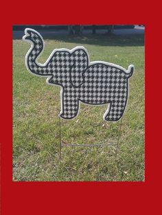 Alabama houndstooth Elephant yard sign  14.99. Crimson Houndstooth a767c3cab709