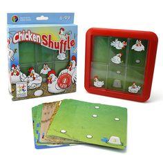 6-99 jaar. Smart Games - Chicken Shuffle   Bedek de eieren bij Chicken Shuffel!  Er is heel wat gekakel op de boerderij want elke kip wil op haar eieren broeden en dat is niet zo eenvoudig. Schuif de kippen door elkaar zodat er op elk ei een kip zit te broeden.