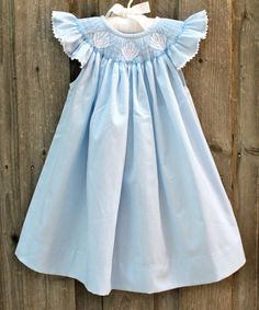 Smocked Seashell Dress from Smocked Auctions