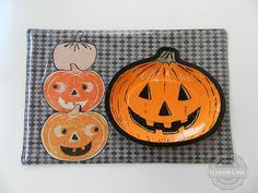 Pumpkin Placemat, tutorial by Jennifer Mathis of Ellison Lane | Sew Mama Sew |