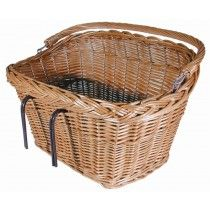 This classic wicker bicycle basket adds vintage charm to any bike. Get a real country chic look with this great wicker basket.