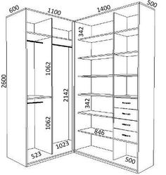 ideas for closet medidas projeto Corner Wardrobe, Wardrobe Design Bedroom, Master Bedroom Closet, Walk In Wardrobe, Bedroom Wardrobe, Bedroom Small, Dressing Room Design, Closet Layout, Closet Remodel