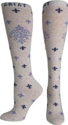 Ariat 9405 Women's Filigree Knee High Sock Oatmeal Ariat. $9.95