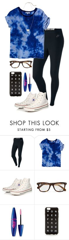 """""""Going to Gabbie's (@gabbiegiordano) sleepover tonight """" by madelyn-abigail ❤ liked on Polyvore featuring NIKE, Sandro, Converse, Ray-Ban, Maybelline, J.Crew and Kendra Scott"""