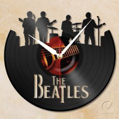 vinyl wall clock  the Beatles by Anantalo on Etsy, ฿1,10