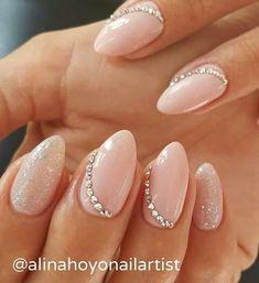 Manicure nails nails, wedding nails и bridal nails Fancy Nails, Pink Nails, Cute Nails, Pretty Nails, Bride Nails, Wedding Nails, Solid Color Nails, Nail Colors, Hair And Nails