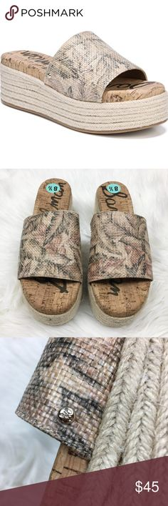 e5f5b140bc2 nwt sam edelman weslee wedge palm print slide 8.5 NWT Sam Edelman weslee  wedge palm print slide sandal. New without box. 2.5