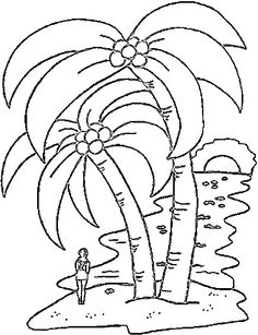Palm Tree Coloring Pages | coconut-palm-coloring-page.jpg | Forests ...