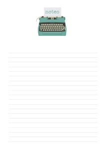 free printable notepaper and to do lists for A5 planners