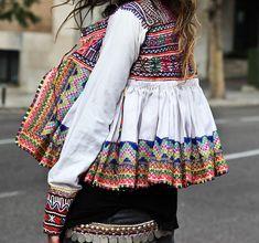 Jacket Embroidery Embellished Bohemian ethnic