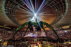 U2: love em, hate em, whatever. They brought us THE CLAW: Weighing 200 tons, with a central pylon reaching 151ft, the stage for U2's 360° tour enabled the band to perform in the round, with every fan at each venue enjoying amazing views