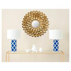 Sunburst Woodland Decorative Wall Mirror Gold - Safavieh