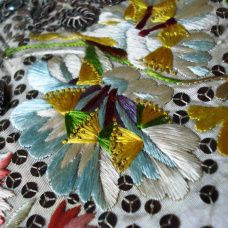 French knot detail, court waistcoat, 1770-80, Snowshill Costume Collection