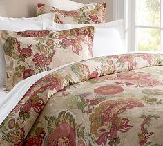 Amaya Floral Duvet Cover Sham #potterybarn