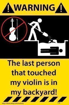 Violin-Warning-Sticker-Funny-Decal-Music-Instrument-Case-170 #violinhumor #violinfunny