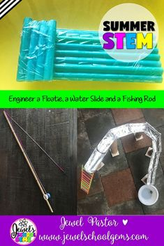 Summer STEM Activities BUNDLE (Summer STEM Challenges) by Jewel's School Gems on TpT | This is a bundle of three of my Summer STEM challenges: Flotation Device STEM Challenge, Water Slide STEM Challenge, and  Fishing Rod STEM Challenge. These Summer STEM Activities are fun, creative, and engaging! They will surely get your students designing and building during this time of year. This bundle is also perfect for your end of the year STEM activities. CLICK NOW! #summerstemchallenge