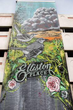 Elliston Place Garage | Nashville Guru Murals by Nine Street Artists 207 Louise Ave, Nashville, TN 37203 Nashville Murals, Meanwhile In, Street Artists, Web Design, Garage, Map, Cool Stuff, Places, Pictures