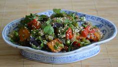 koreai padlizsán saláta Bruschetta, Food And Drink, Ethnic Recipes