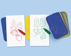 These 26 alphabet rubbing plates feature upper and lower case letters, plus 2 images with the same initial sound. Plates measure 10 (W) x (H) cm. Initial Sounds, Letter Sounds, Learning The Alphabet, Learning Toys, Preschool Alphabet, Preschool Classroom, Preschool Learning, Kindergarten, Upper And Lowercase Letters