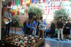 """""""Empty Bowls"""" is an annual event, held in February, to raise money to fight hunger by selling ceramic bowls made by Flint Hill School's students, parents, faculty and staff."""